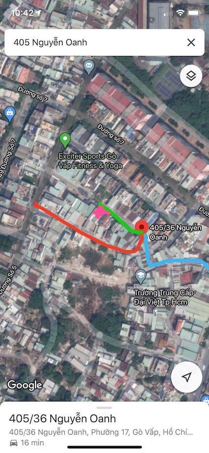 vị trí nhà bán 405/28/33 Nguyễn Oanh, P. 17, Q. Gò Vấp